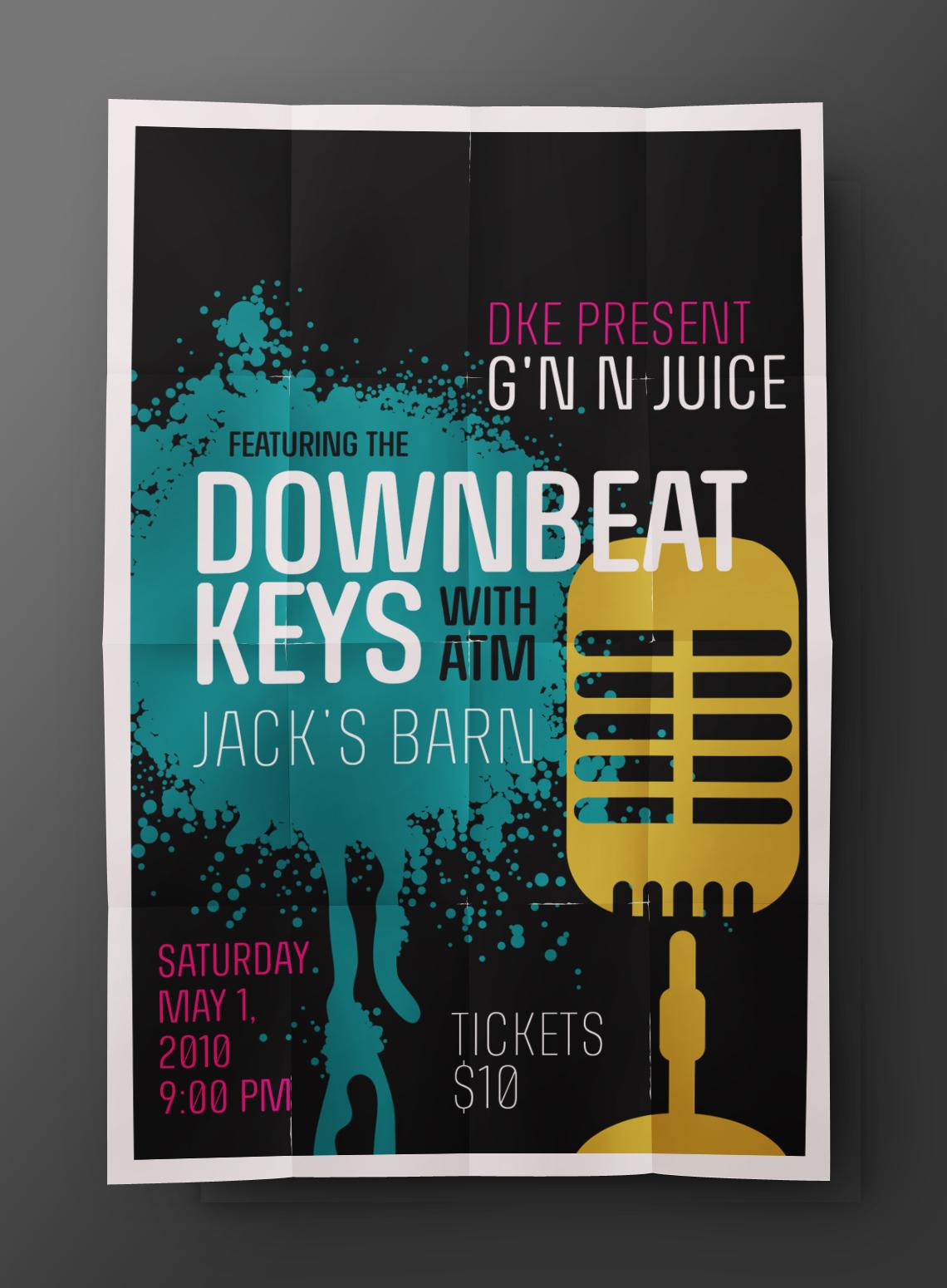 Downbeat Keys Poster Design