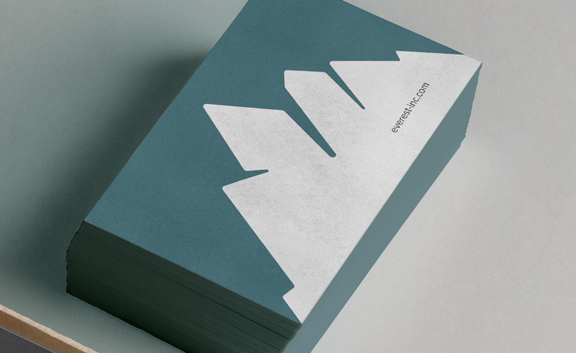 Everest Receivables Business Card Design
