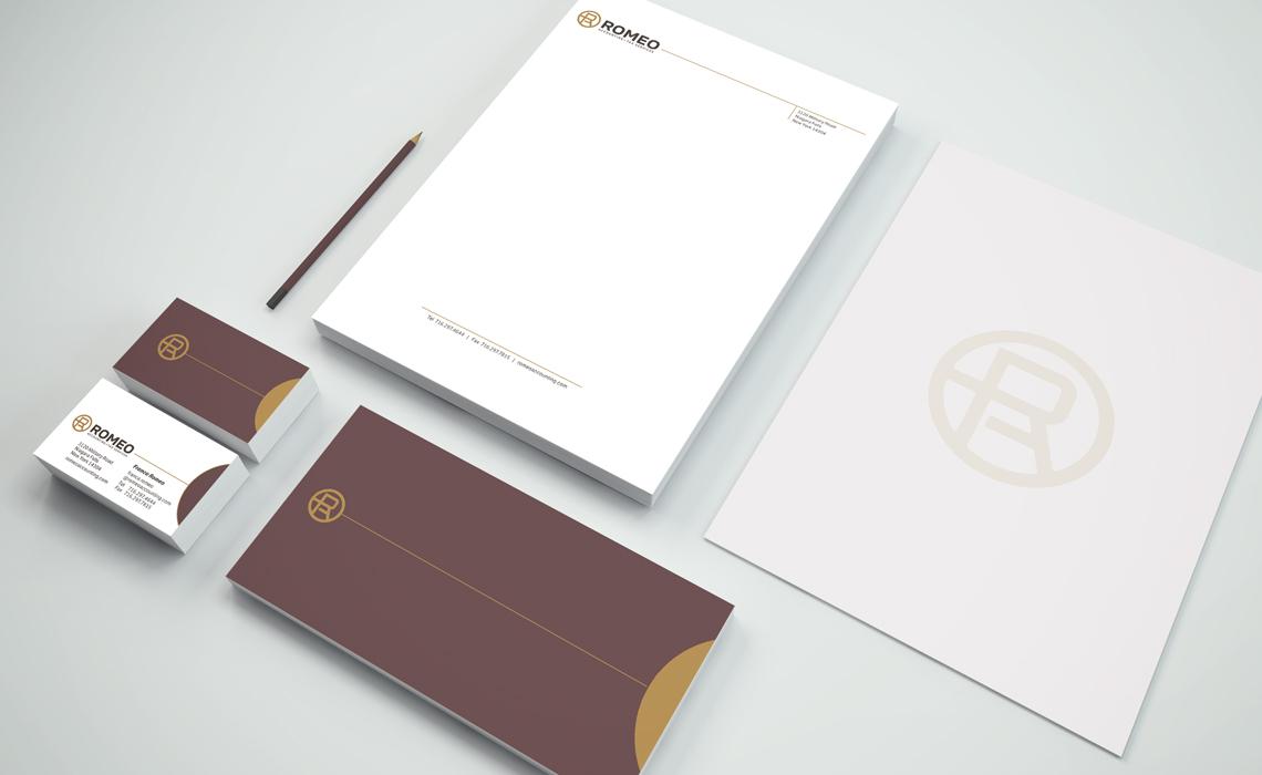 Romeo Accounting Corporate Branding Identity Design