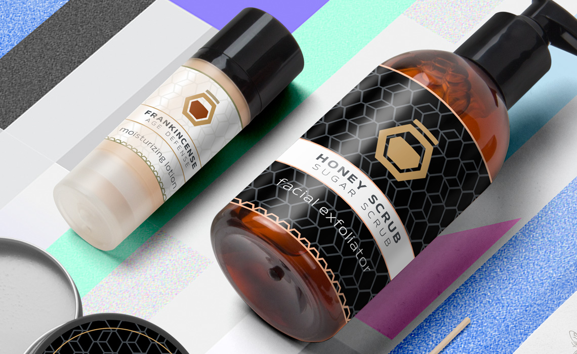 Beeyond Honey Beauty Brand Identity + Package Design