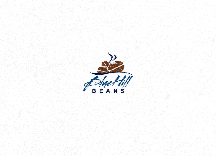 Blue Hill Beans Coffee Logo Design
