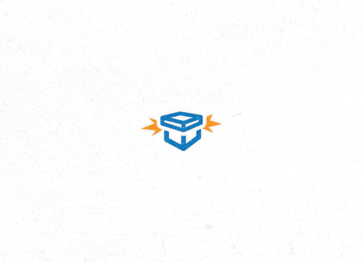 Exploding Box Icon Design