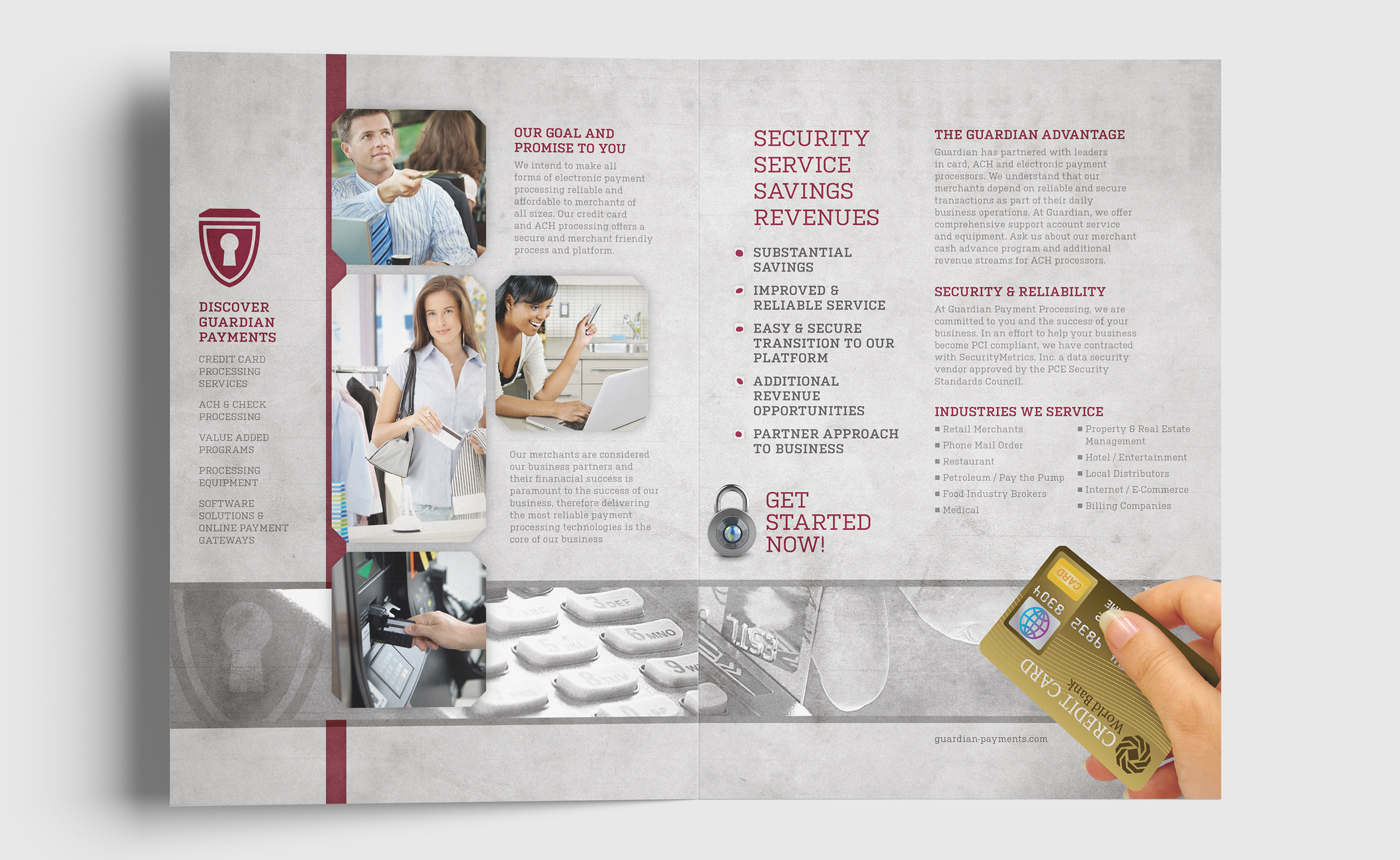 Guardian Payment Processing Brochure Design