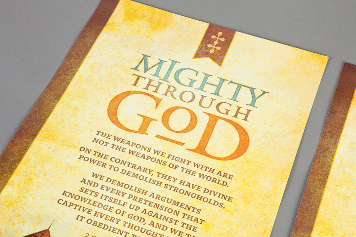 Mighty Through God Poster Design