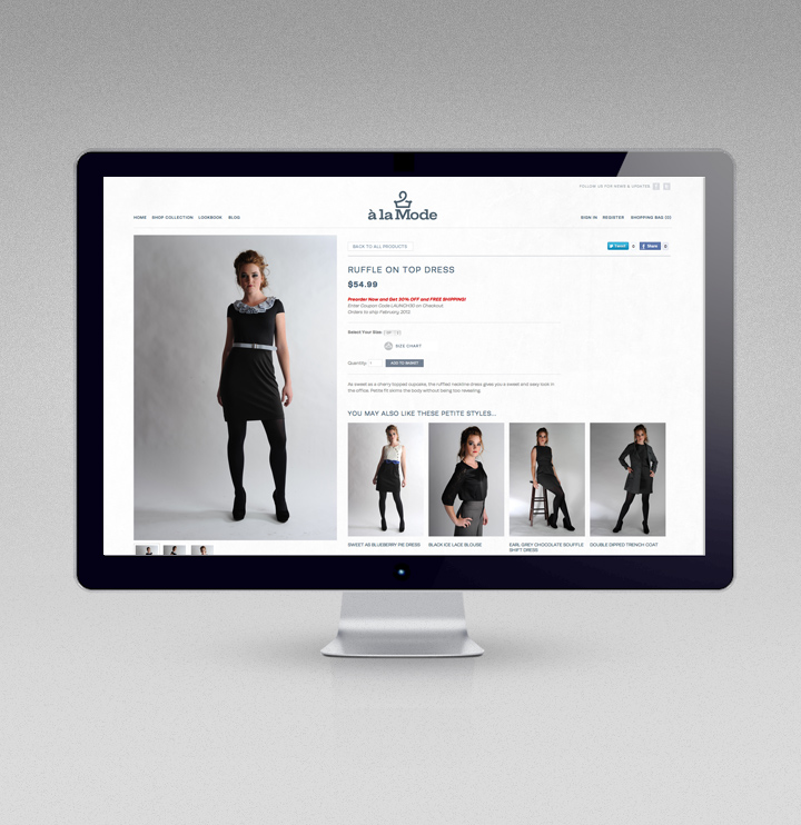 A la mode ecommerce web design