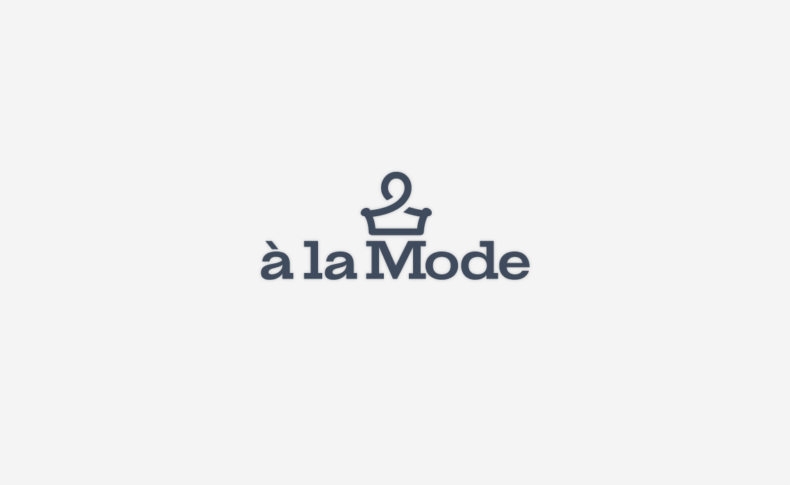 A la mode fashion logo design