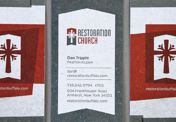 Restoration Church Business Card Design