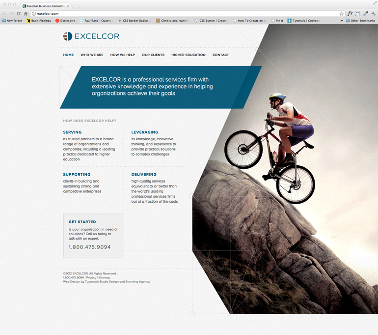 Excelcor CMS Web Design Home Page
