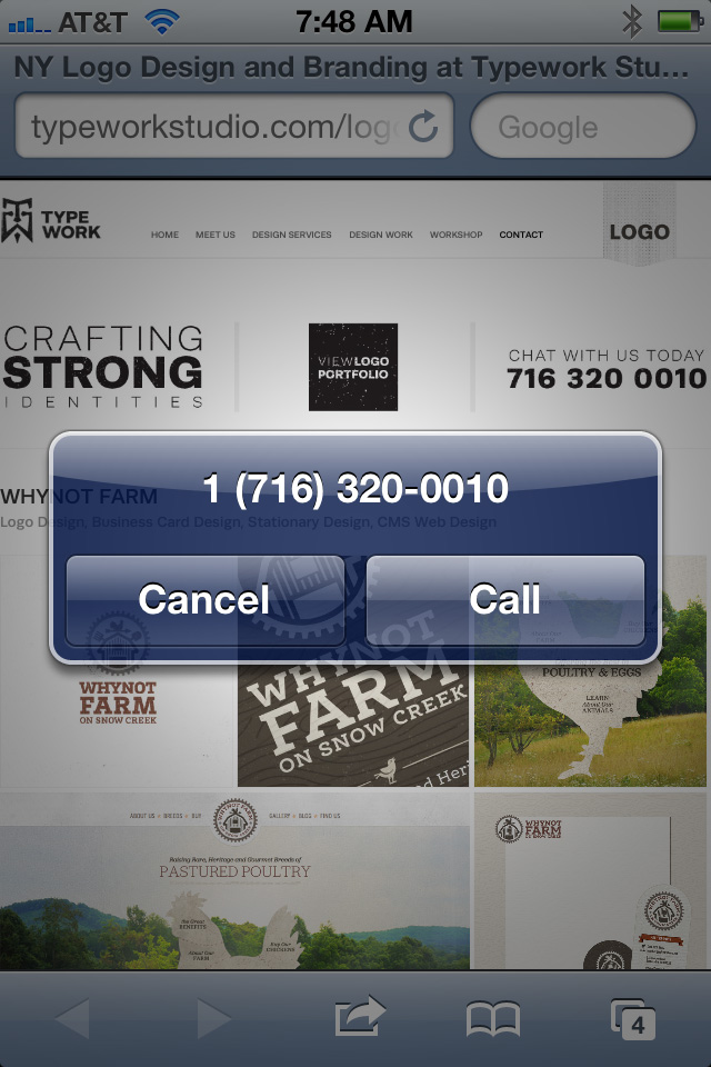 Make an image clickable to a mobile phone number