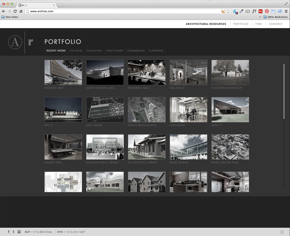 Architectural Resources CMS Web Design