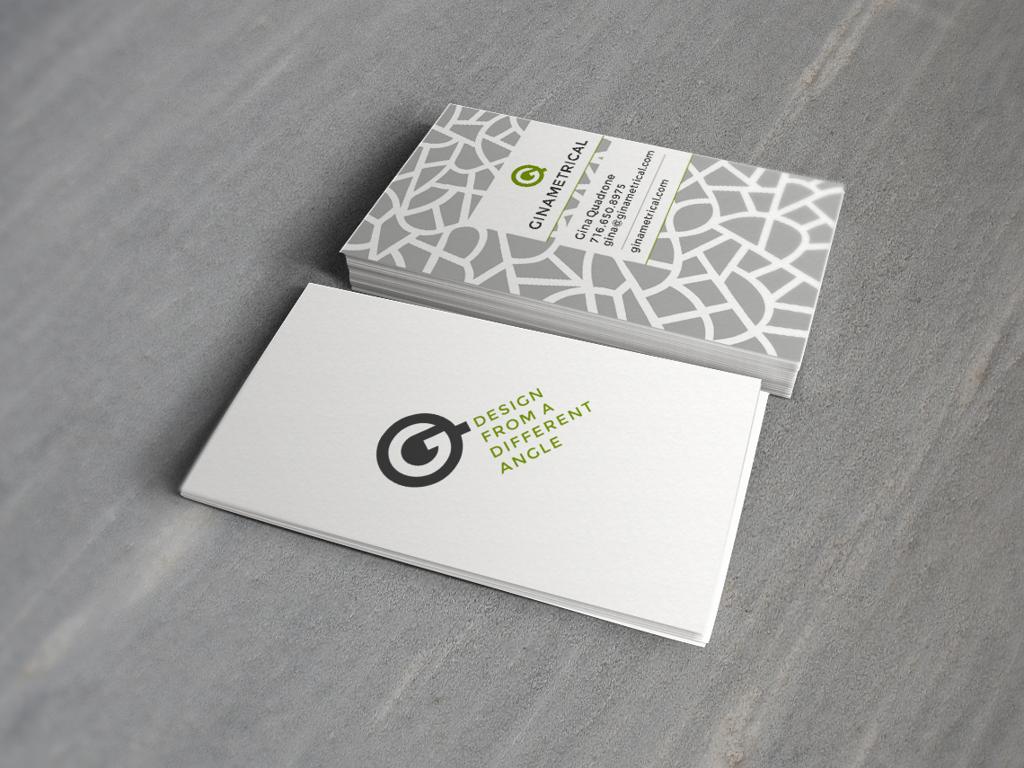 Ginametrical Business Card Design - Typework Studio Design Agency