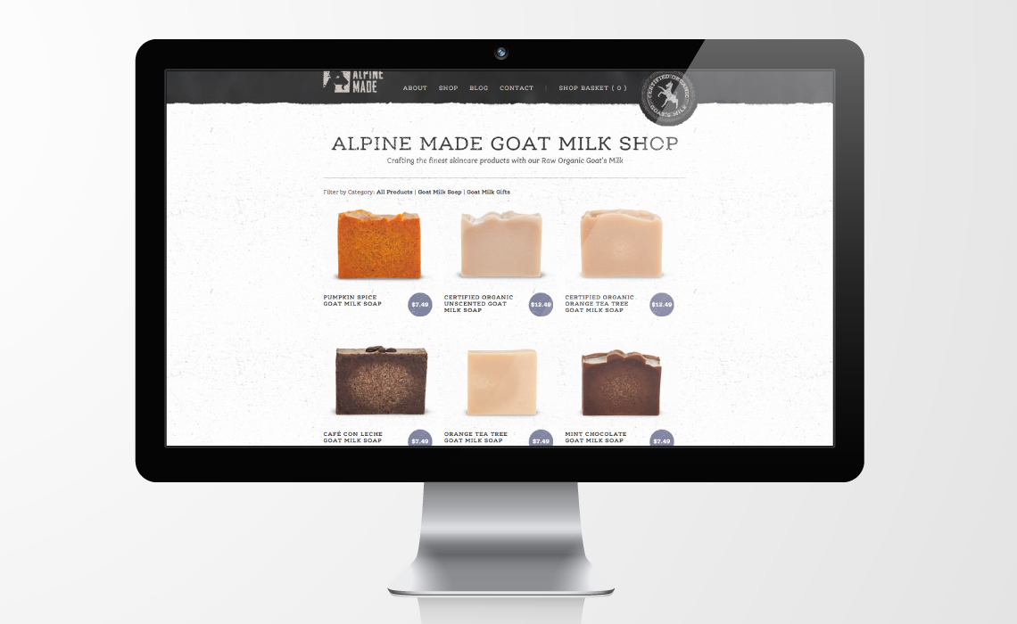 Alpine Made E-commerce and CMS Web Design