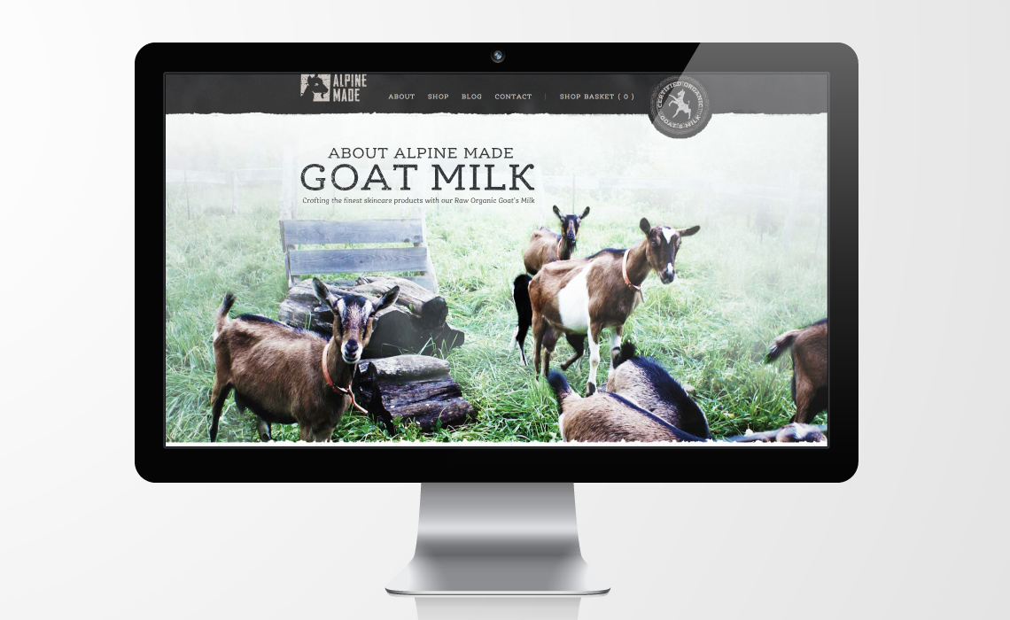 Alpine Made Goat Milk Soap E-commerce Web Design