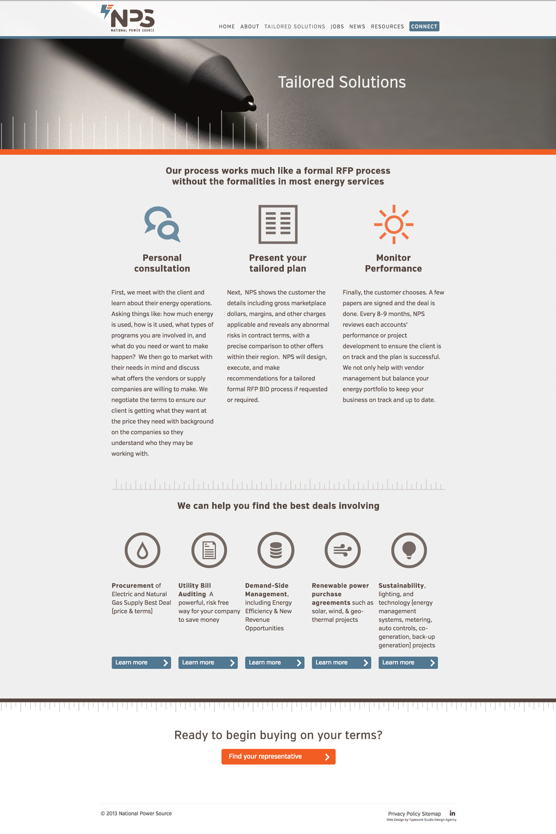 National Power Source CMS Web Design