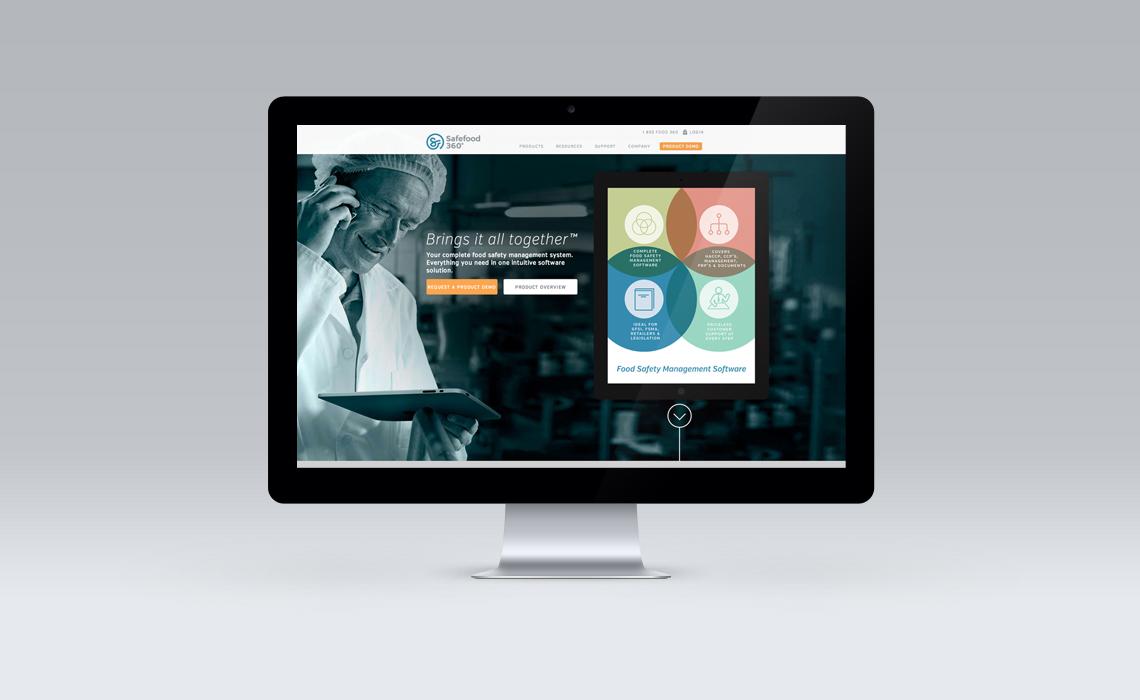 Safefood 360 CMS Web Design