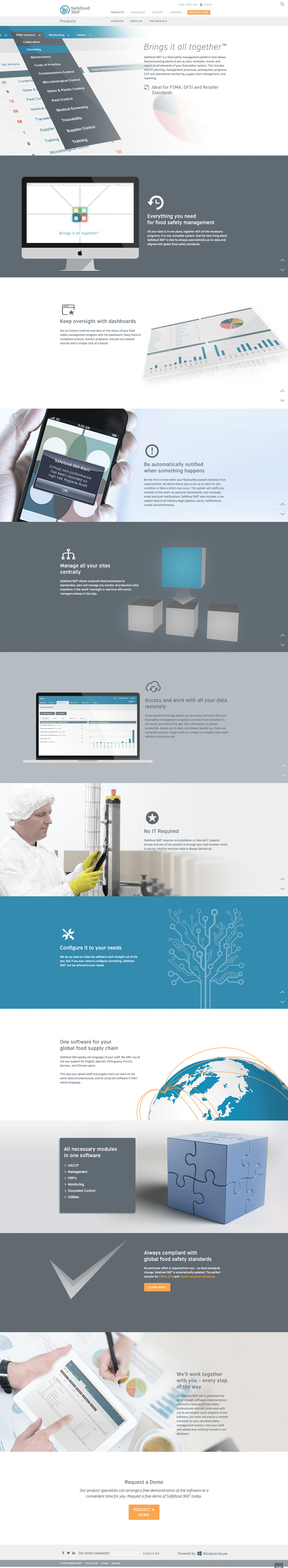 Safefood CMS Web Design product page