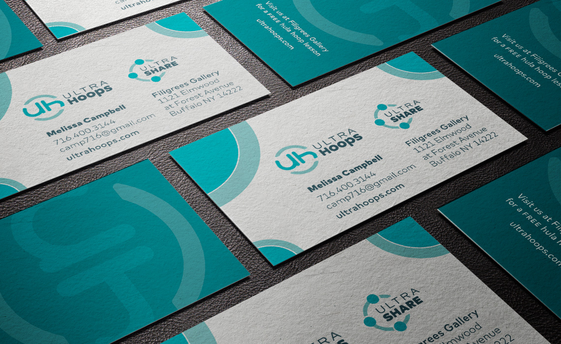 UltraHoops Business Card Design - Typework Studio Design Agency