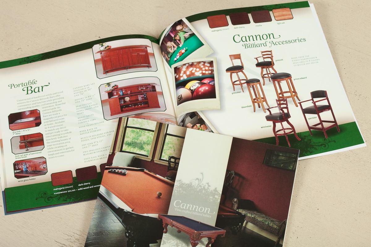 Cannon Billiards Table Catalog Design