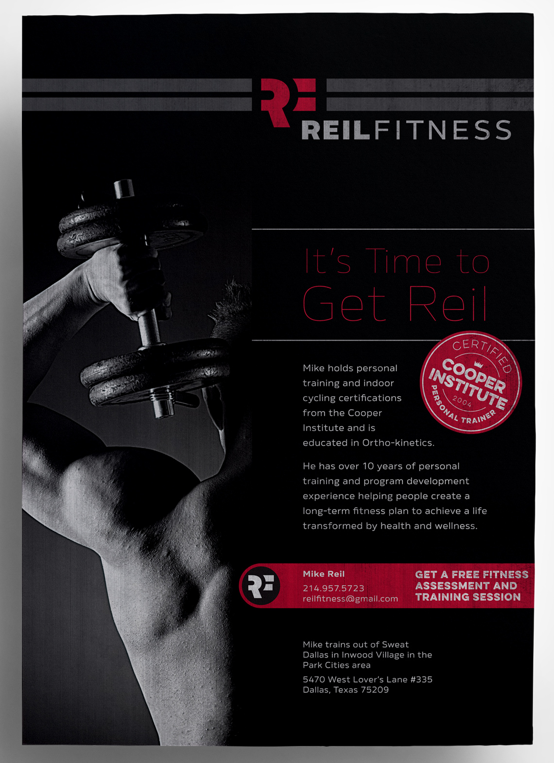 reil fitness flyer design typework studio ny branding design agency. Black Bedroom Furniture Sets. Home Design Ideas
