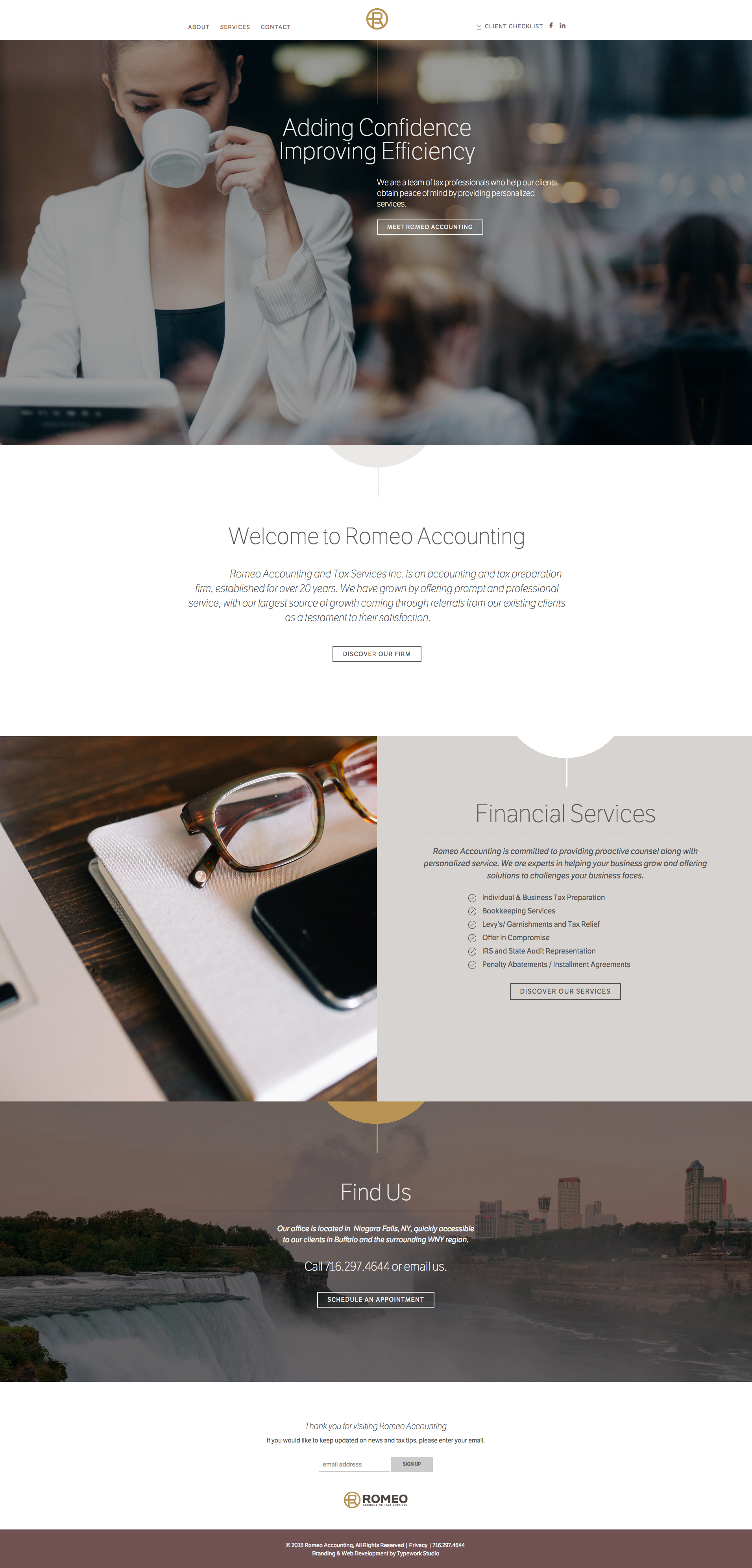 Romeo Accounting CMS Web Design