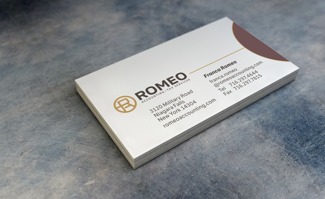 Romeo accounting branding identity typework studio design agency romeo accounting business card design magicingreecefo Image collections