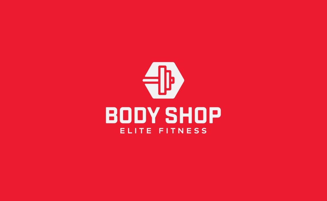 Body Shop Elite Fitness Logo Design by Typework Studio