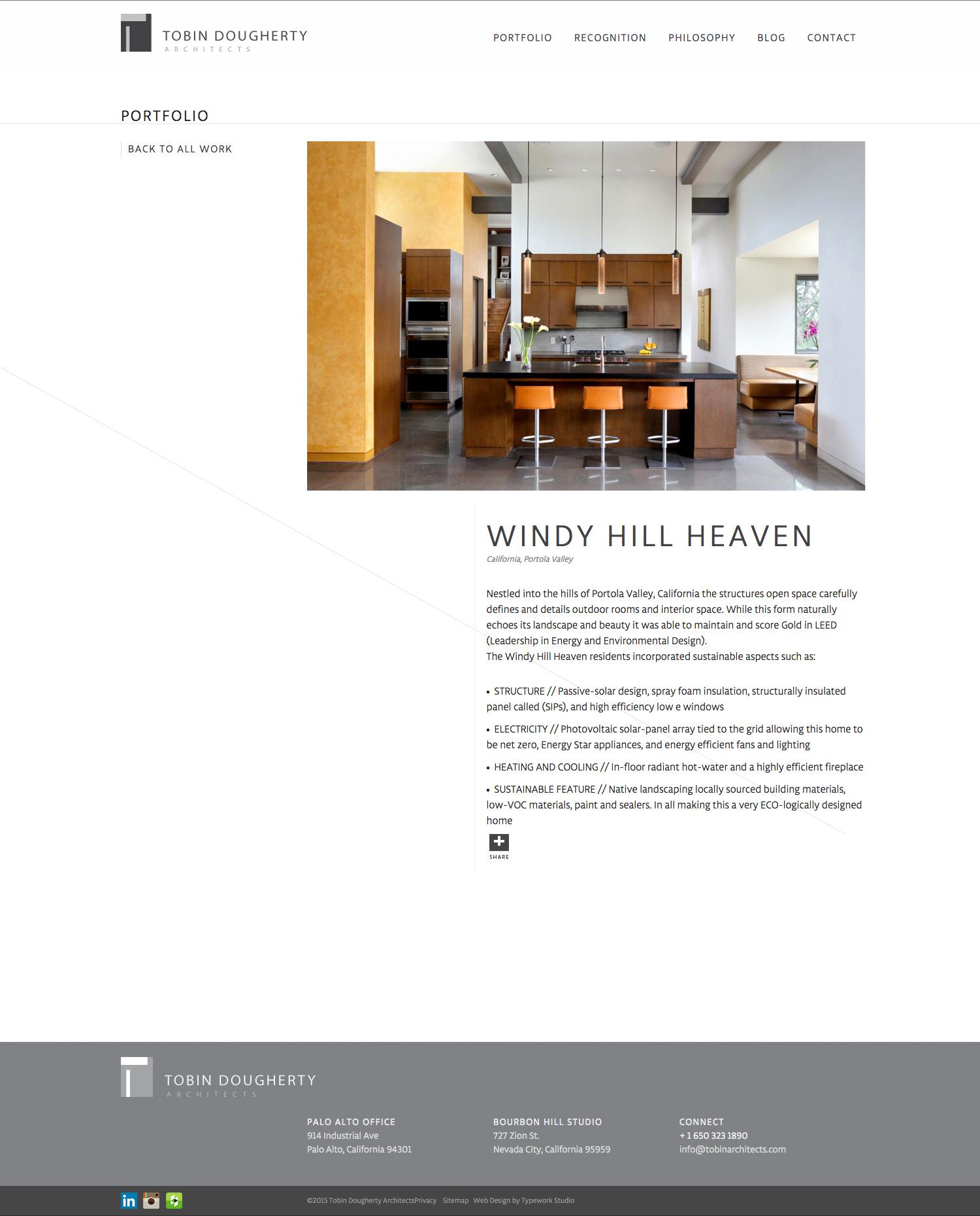 Tobin Dougherty Architect Web Design