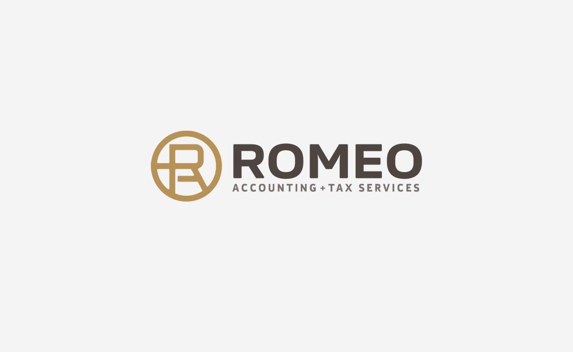 Romeo Accounting Logo Design for Brand Identity
