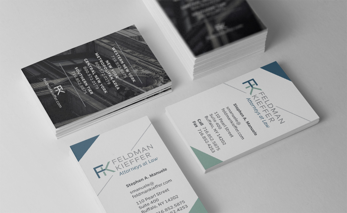 Feldman Kieffer NY Law Firm Business Card Design