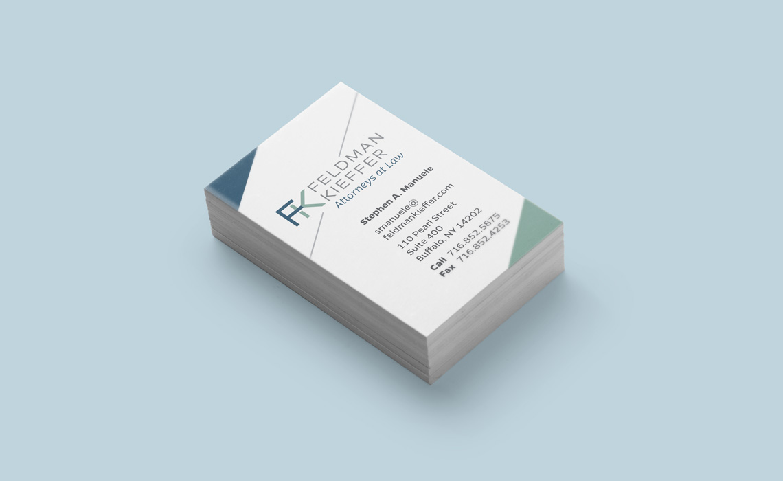 Feldman kieffer law firm business card design typework studio feldman kieffer ny law firm business card design colourmoves