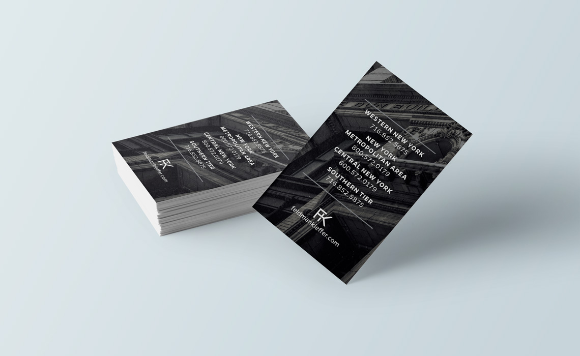 Feldman kieffer law firm business card design typework studio feldman kieffer ny law firm business card design reheart Gallery
