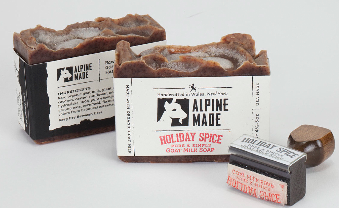 Alpine Made Stamp and Label Design by Typework Studio Design Agency