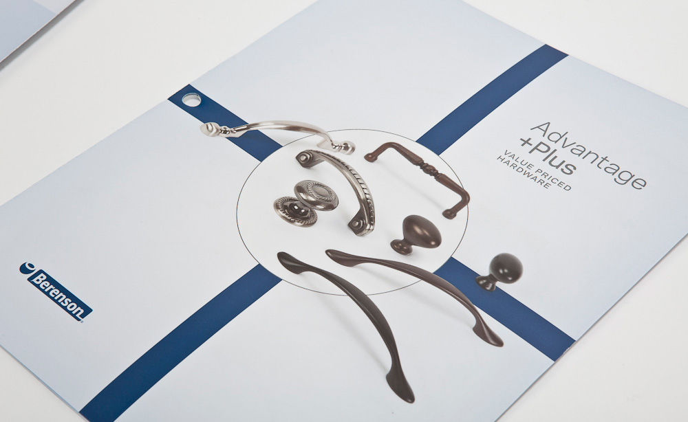 Kitchen Brochure Design for Berenson Kitchen and Bath Hardware by Typework Studio Design Agency