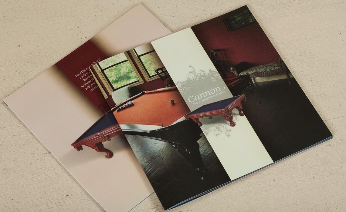 Cannon Billiards Table Catalog Design by Typework Studio Design Agency