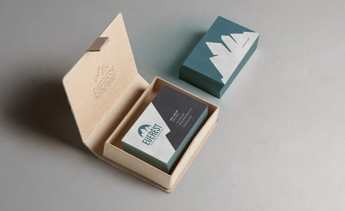Everest Receivables Business Card Design by Typework Studio Design Agency