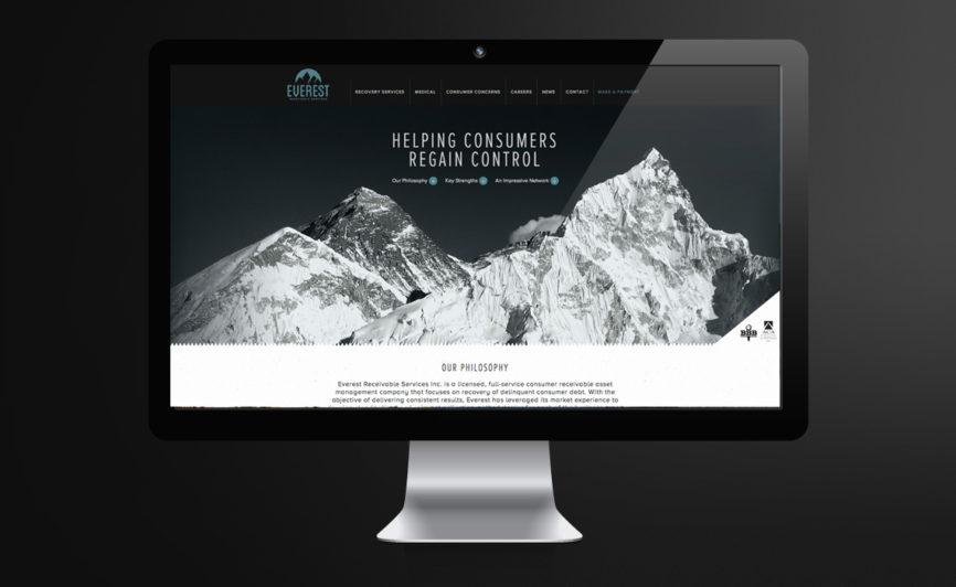 Everest Receivable Services CMS Web Design by Typework Studio Web Design Agency