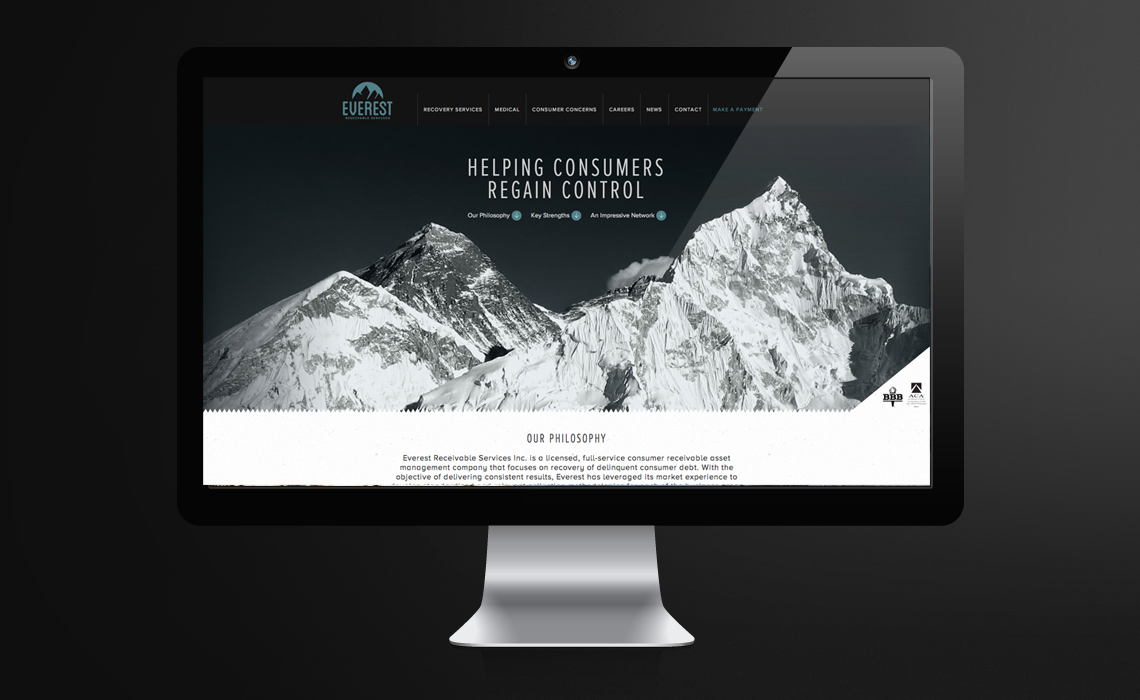 Everest Receivable Services CMS Web Design by Typework Studio Web Design Agency
