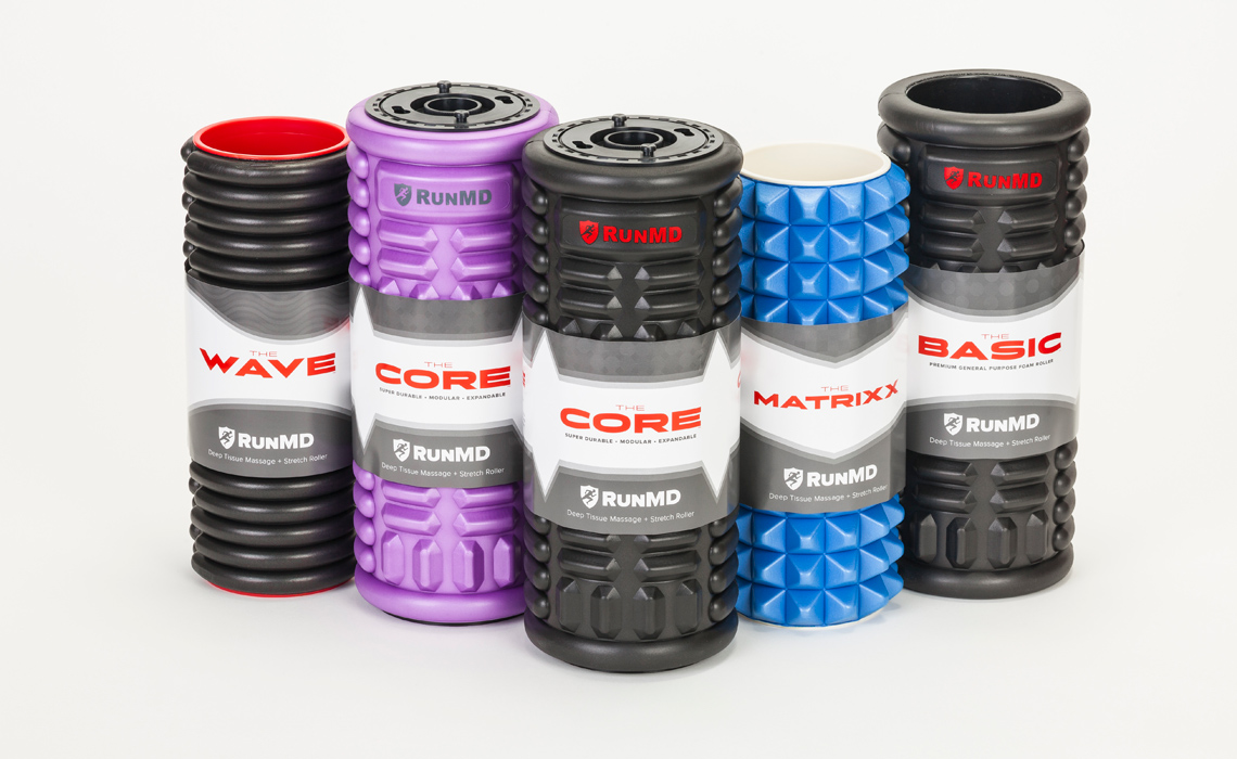 RunMD Foam Rollers Package Design by Typework Studio Design Agency