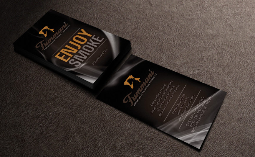 Fummani Electronic Cigarettes Business Card Design by Typework Studio Design Agency