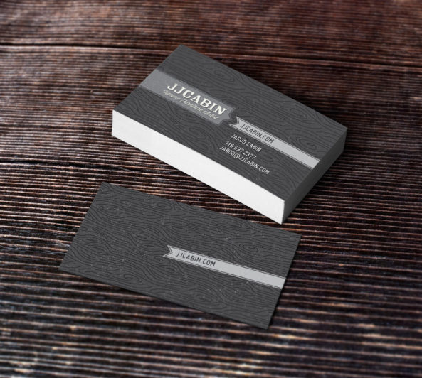 JJ Cabin Business Card Design by Typework Studio Design Agency