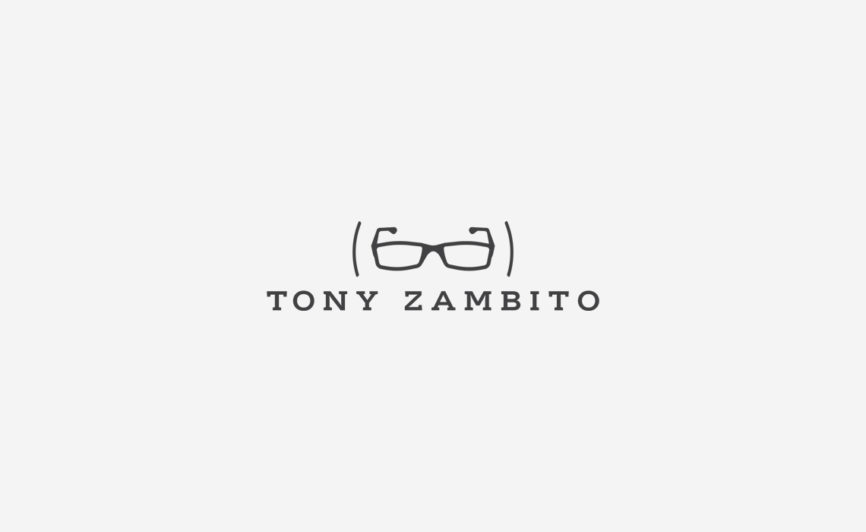 Tony Zambito Logo Design + Development by Typework Studio Logo Design Agency