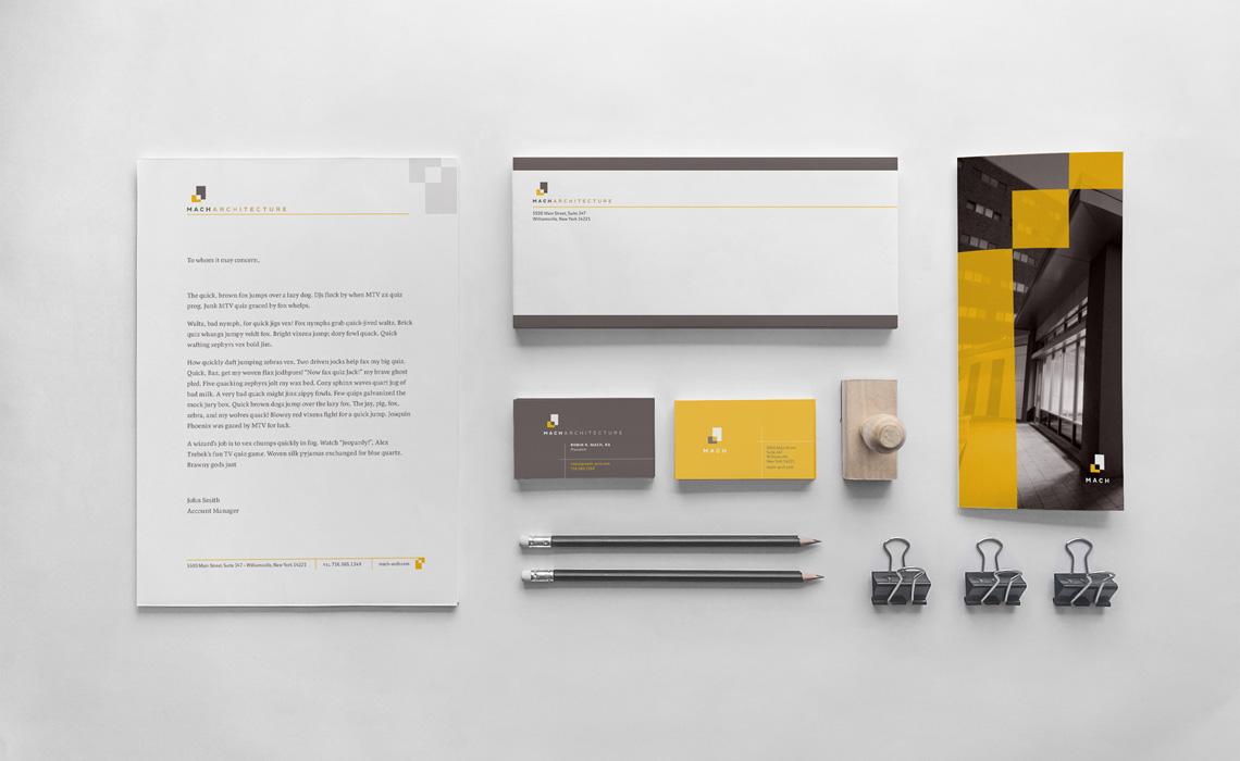 Mach Architecture Brand Identity Design by Typework Studio Branding Design Agency