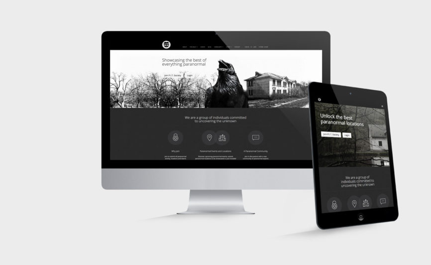 Pit Society CMS Web Design