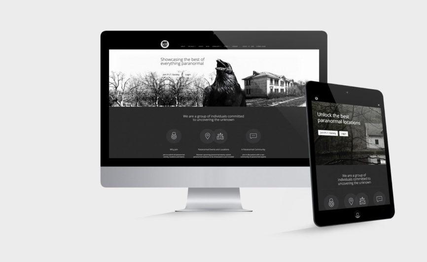 Pit Society CMS Web Design