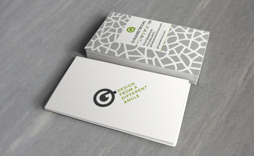 Ginametrical Business Card Design by Typework Studio Design Agency
