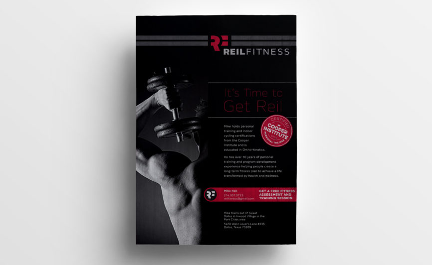 Reil Fitness Flyer Design by Typework Studio Design Agency