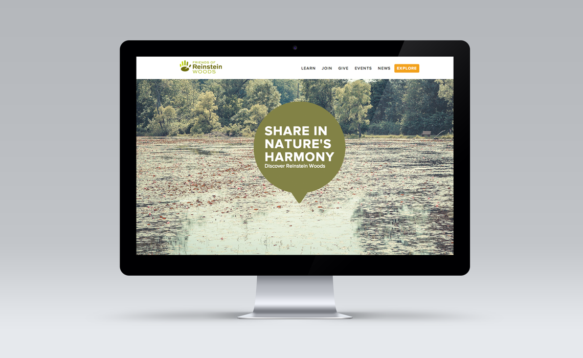 Reinstein Woods CMS Web Design by Typework Studio Web Design Agency