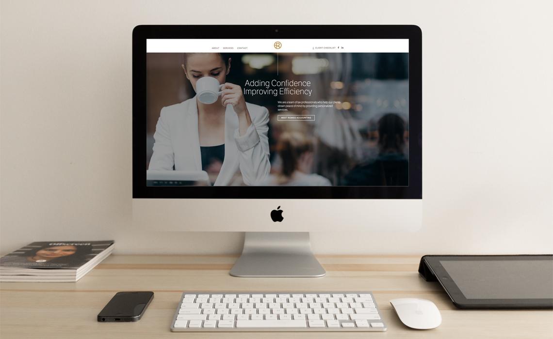 Romeo Accounting CMS Web Design by Typework Studio Web Design Agency