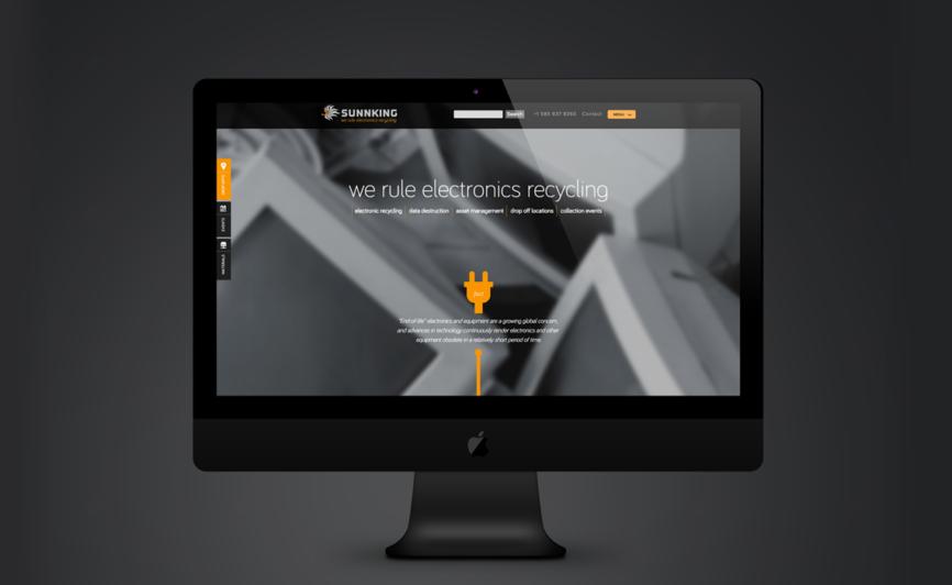 Sunnking Electronics Recycling CMS Web Design by Typework Studio Web Design Agency