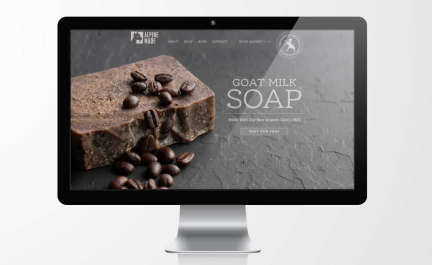 Alpine Made Organic Soap E-commerce and CMS Web Design by Typework Studio Web Design Agency